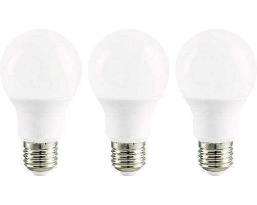 LED lampa A60 vit E27/5,3W(40W) 470 lm 2700 K varmvit 3-pack