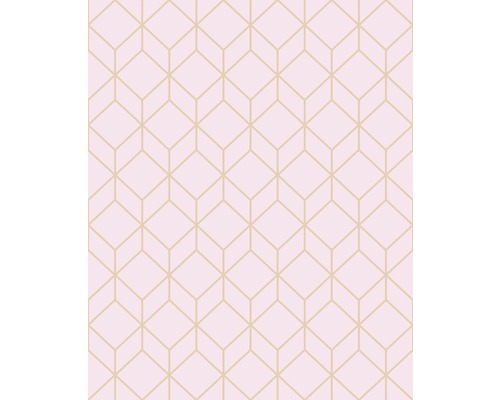 Tapet GRAHAM & BROWN Myrtle Geo grå rosa