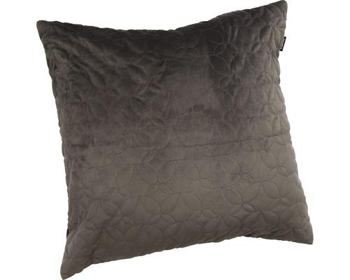 Kuddfodral HASTA Ljuva sammet märkgrått 50x50cm