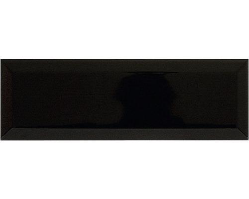 Kakel svart fasad kant blank 9,6x29,6 cm