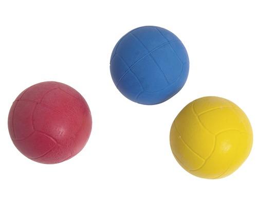 Hundleksak KARLIE skumgummiboll 6,5cm blandade färger