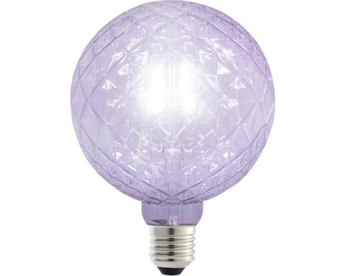 FLAIR LED klotlampa E27 1W G125 lila 65 lm 2200 K varmvit