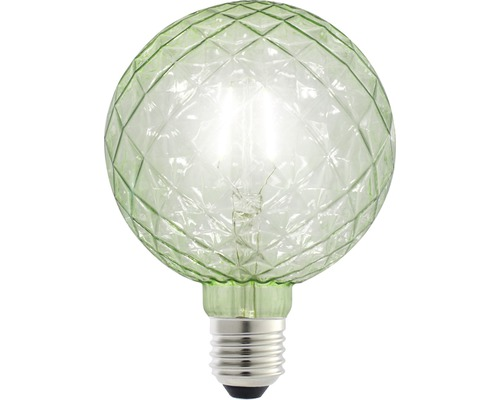 FLAIR LED klotlampa E27 1W G125 grön 70 lm 2200 K varmvit