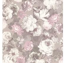Tapet P+S Floral brun beige