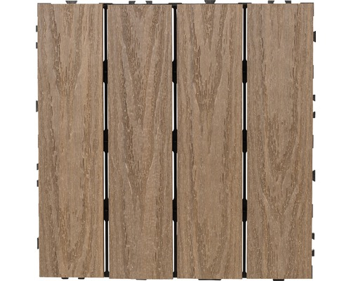 Trallruta JABO 30x30cm 4-pack komposit brun