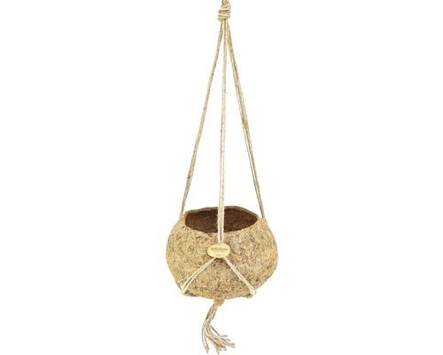 Ampelkruka kokedama kokos Ø25x13cm brun