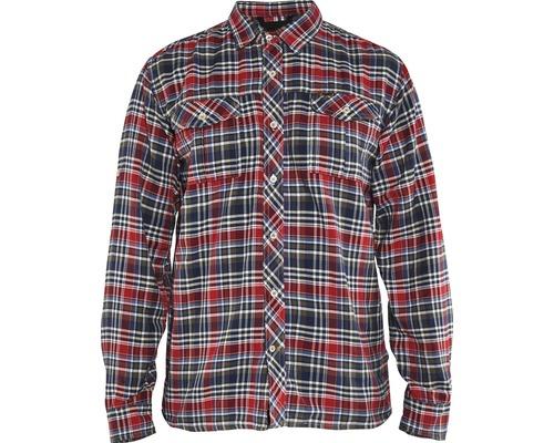 Flanellskjorta BLÅKLÄDER marinblå/röd strl. M
