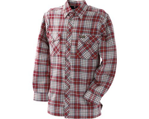 Flanellskjorta BLÅKLÄDER fodrad röd/grå L