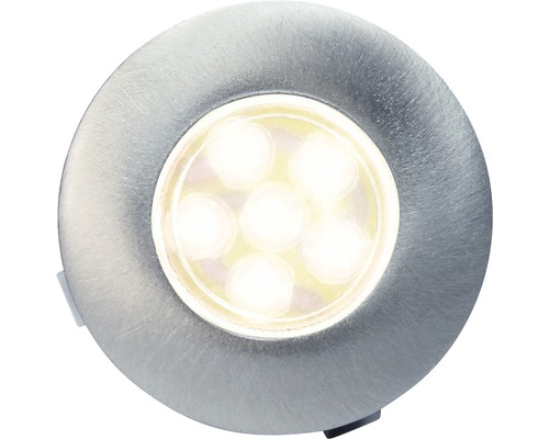 Decklight BOLTHI Connect 6-SMD LED 0,6W Ø 35mm 2700K IP67 rostfritt stål med frostat glas 4 styck