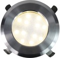 Decklight BOLTHI Connect 12-SMD LED 1,2W Ø 70mm 2700K IP67 rostfritt stål frostat glas 4 styck