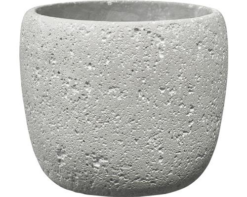 Blomkruka SOENDGEN Bettona cement Ø14x12cm ljusgrå