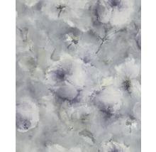 Tapet Vincenza Blom blå turkos