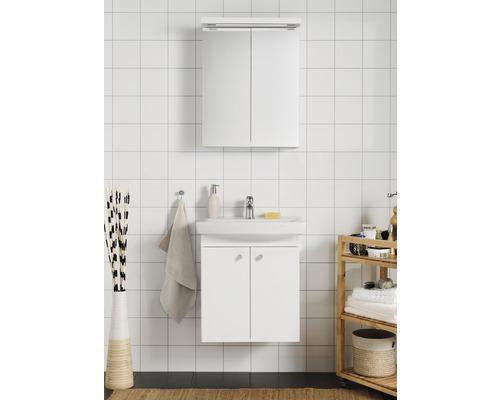 Badrumsmöbelset HAFA Life 600 inkl. spegelskåp vit med luckor