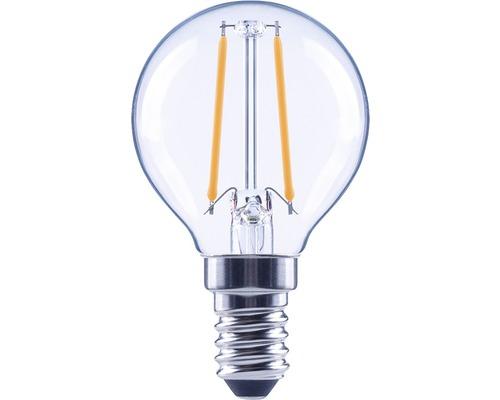 Klotlampa FLAIR LED 2,2W E14 G45 filament klar 250lm 2700K varmvit