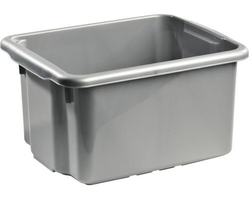 Förvaringsbox NORDISKA PLAST Nordic 23 l silver