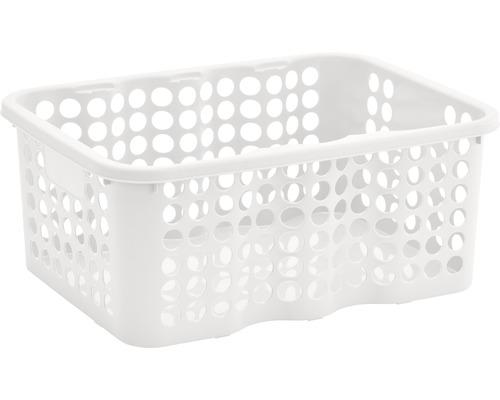 Förvaringskorg NORDISKA PLAST Rondo 12 l vit