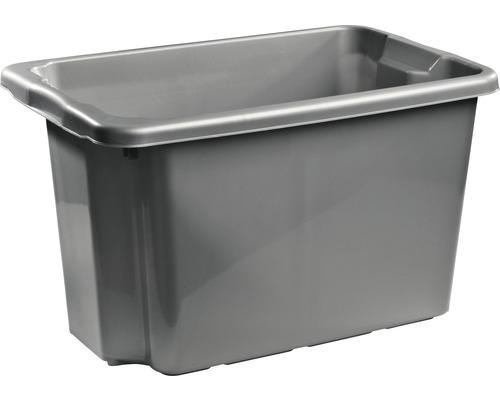 Förvaringsbox NORDISKA PLAST Nordic 55 l silver
