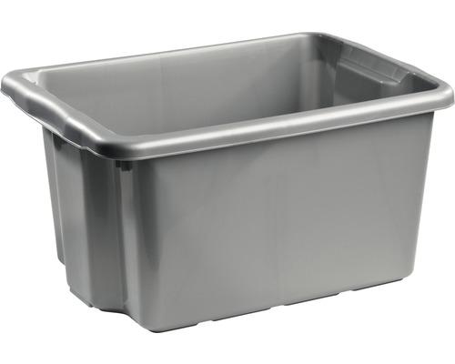 Förvaringsbox NORDISKA PLAST Nordic 33 l silver