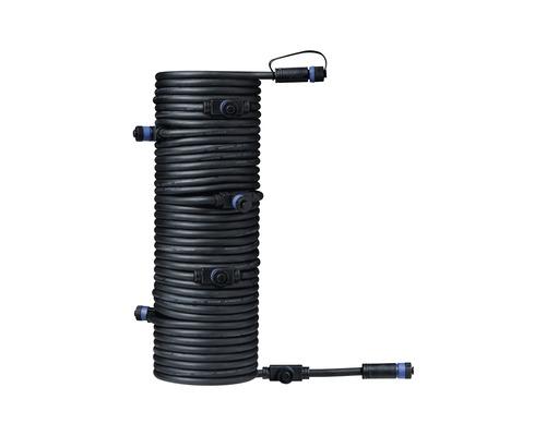 Förlängningskabel PAULMANN Plug & Shine med 7 kontakter IP68 svart 15m