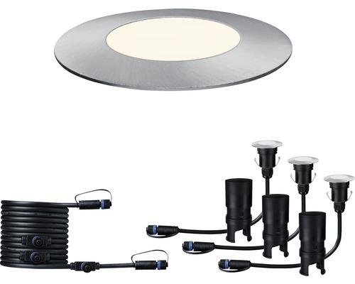 Golvspot PAULMANN Floor Mini förlängningsset Plug & Shine 3x2,5W 3x95lm 3000K Ø 55/40mm IP65 230/24V silver 3 styck