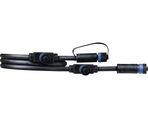 Förlängningskabel PAULMANN Plug & Shine med 3 kontakter IP68 24V svart 1m