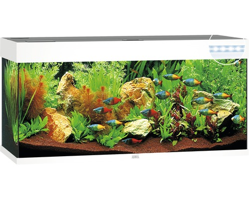 Akvarium JUWEL RIO 240 LED vit underskåp ingår ej