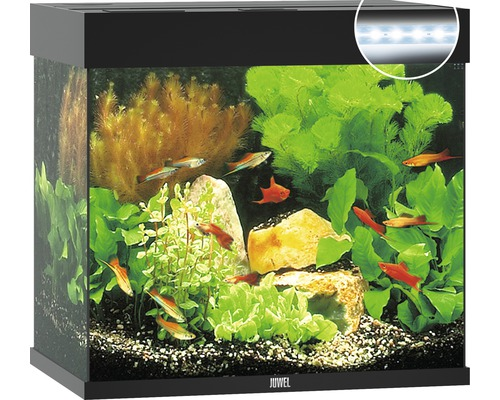 Akvarium JUWEL Lido 120 LED svart utan underskåp