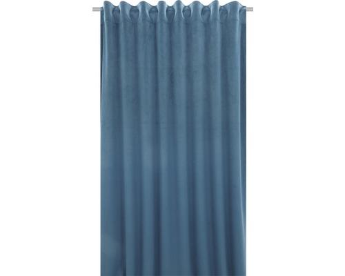 Sammetsgardin Velvet m. veckband blå 140x280cm