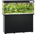 Akvariumkombination JUWEL Rio 240 SBX med LED-belysning, värmare, filter och underskåp svart