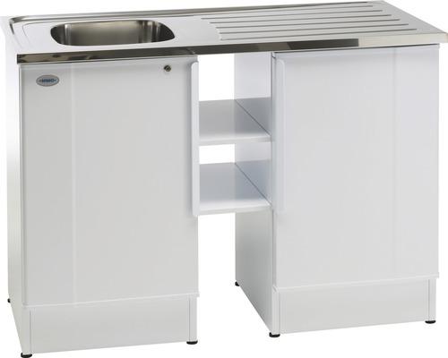 Tvättbänk Nimo NB 1200 TMSK 1200x600x900 mm vit vänster