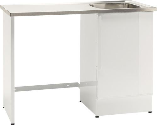 Tvättbänk Nimo NB 1200 TMS 1200x600x900 mm vit höger