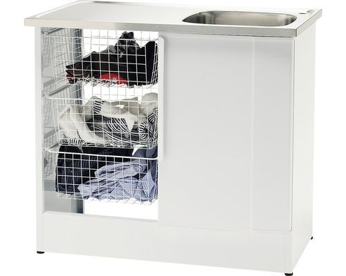 Tvättbänk Nimo NB 1000 TMS 1000x600x900 mm vit höger
