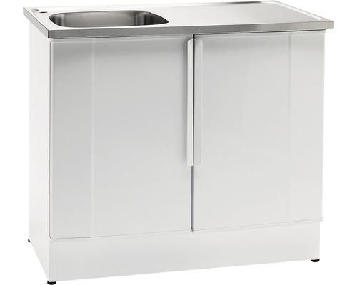 Tvättbänk Nimo NB 1000 L 1000x600x900 mm vit vänster
