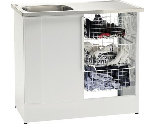 Tvättbänk Nimo NB 1000 TMS 1000x600x900 mm vit vänster