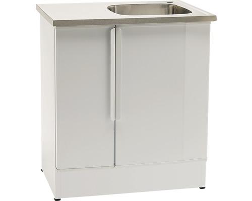 Tvättbänk Nimo NB 800 L 800x600x900 mm vit höger