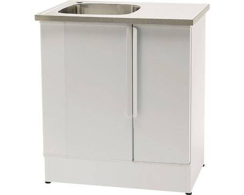 Tvättbänk Nimo NB 800 L 800x600x900 mm vit vänster