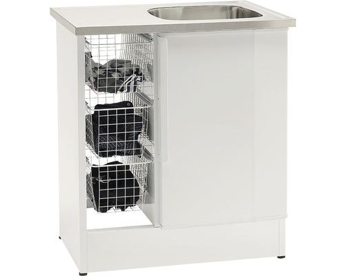 Tvättbänk Nimo NB 800 TMS 800x600x900 mm vit höger