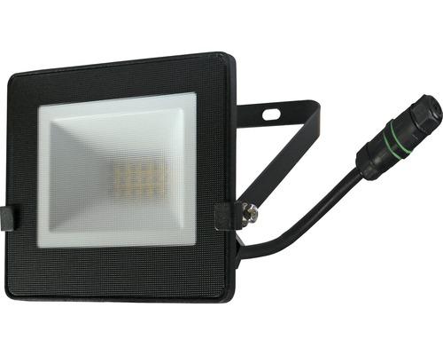 Strålkastare LED IP65 10W 800lm 4000K neutralvitt höjd 110mm svart