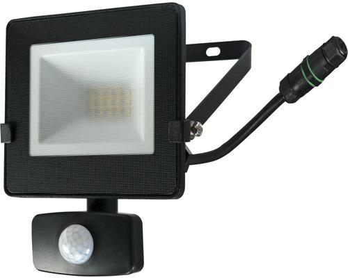 Strålkastare LED med sensor IP54 10W 800lm 4000K neutralvitt höjd 180mm svart