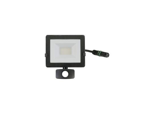 Strålkastare LED med sensor IP54 20W 1600lm 4000K neutralvitt höjd 190mm svart