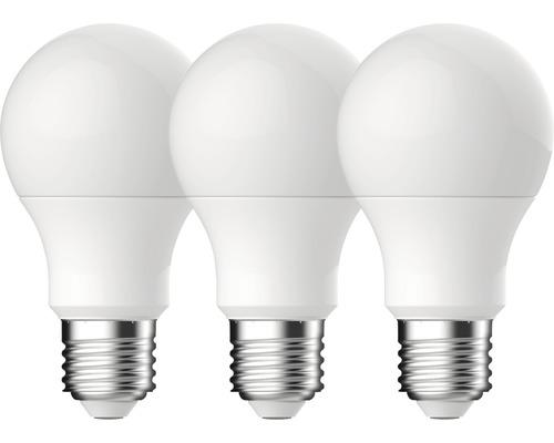 Klotlampa LED A60 vit E27/10,2W(75W) 1055lm 2700K varmvit 3st
