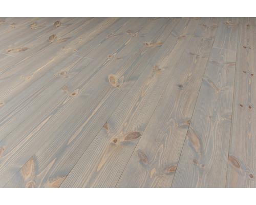 Massivt trägolv Hardpine Granite borstat 25x159 mm