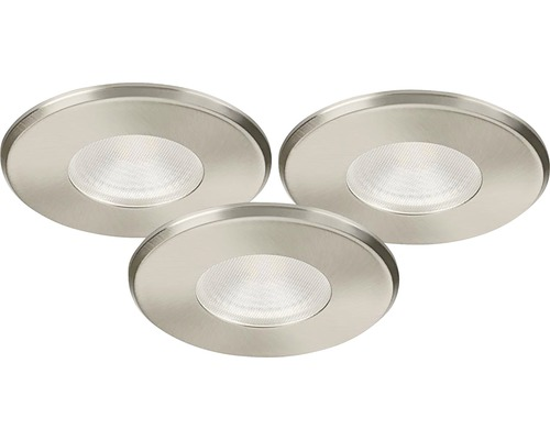 Downlights set MALMBERGS LED MD-316 11,5W 230V satin IP44 dimbar 3 st