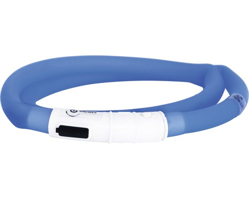 Halsband DOGMAN LED-ring silikon blå