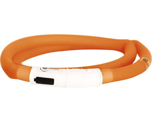 Halsband DOGMAN LED-ring silikon orange