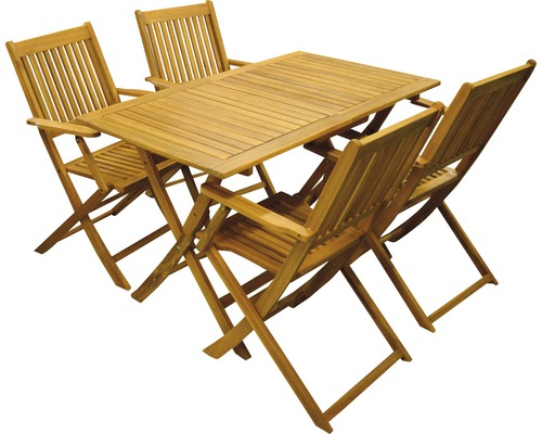 Trädgårdsmöbelset ACAMP Forma 5 delar 4-sits akacia