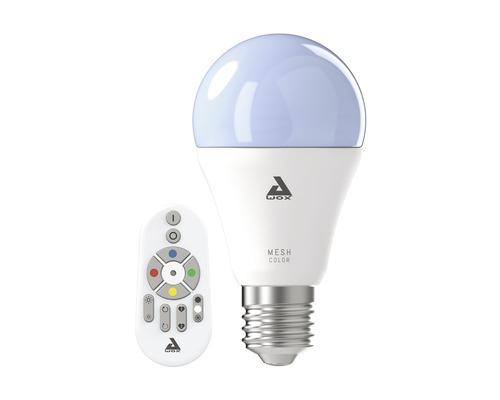 Ljuskälla EGLO LED A60 RGBW CCT dimmbar E27/9W 806 lm 2750 K varmvit med fjärrkontroll Crosslink