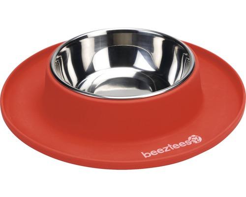 Matskål BEEZTEES silikon 250ml 24x4,5cm röd