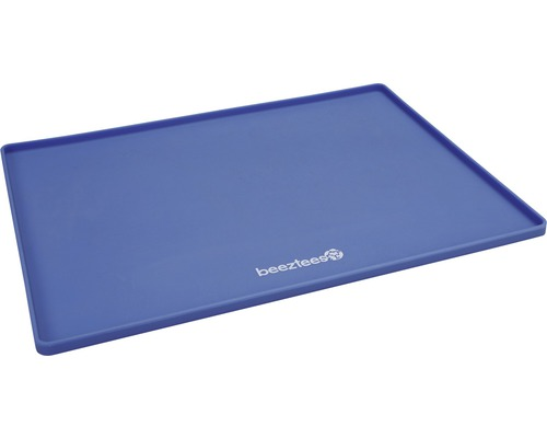 Skålunderlägg BEEZTEES silikon 40x30cm blå