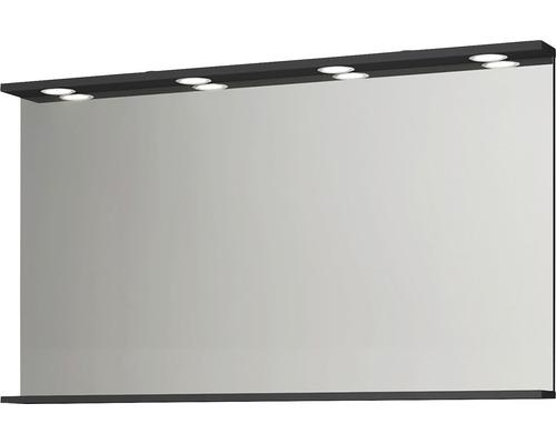 HAFA Badrumsspegel Store LEDspots antracit 1200